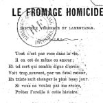 Bouchard, Le Fromage homicide, 1877