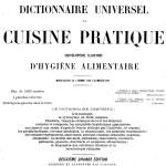 Favre, Dictionnaire universel de cuisine pratique, 1905