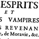 Traité sur les vampires, 1751