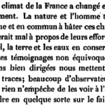 Fuster, Des changements dans le climat de la France, 1845