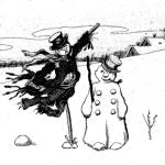 Falco, L'épouvantail et le bonhomme de neige, 1902