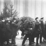Le marché des arbres de Noël à Saint-Pétersbourg, 1913