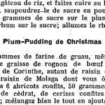 Recette du plum-pudding de Christmas, 1927
