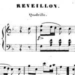 Cazenaud, Réveillon, quadrille pour piano, 1859