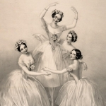 Les danseuses Carlotta Grisi, Marie Taglioni, Lucile Grahn et Fanny Cerrito, 1845