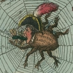 Thomas Rowlandson, L'Araignée corse tisse sa toile, gravure, 1808
