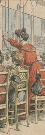 Les demoiselles du téléphone dans le supplément du Petit journal, 17 avril 1904