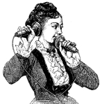 Dessin de Bonnafoux pour Le téléphone, le microphone et le phonographe, 1878