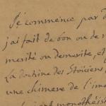 La première page du manuscrit d'Histoire de ma vie