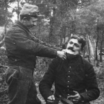 Barbier militaire en plein air, 1915
