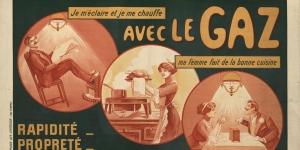 Mourgue, Affiche pour le gaz, 1910