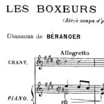 Les boxeurs, chanson de Béranger