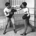 Entraînement du boxeur Bernard en 1913