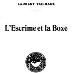 Laurent Tailhade, L'Escrime et la boxe, 1924