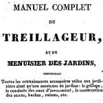 Manuel complet du treillageur, 1836