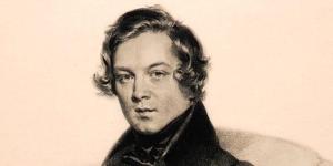Portrait de Robert Schumann par Josef Kriehuber, vers 1840