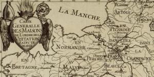 Carte des maisons de l'Ordre de la Visitation, 1678