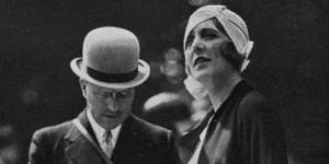 André Citroën et la baronne de Rotschild dans Les Modes, août 1930