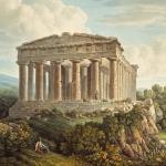 Vue du Temple de la Concorde à Agrigente, 1801