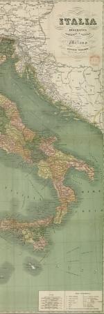 Carte de l'Italie, 1887