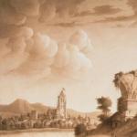 Jean Jacques Lequeu, Vue d'un paysage avec pont en ruine