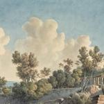 Louis François Cassas, Vue du Théâtre de Syracuse, 1801