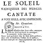 Louis-Nicolas Clérambault, Le Soleil vainqueur des nuages, 1731