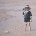 Jeune baigneur vers 1910