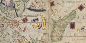 Carte de l'Océan indien Sud dans l'atlas Miller, 1519
