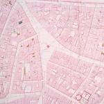 Plan détaillé de la place Maubert, 18e siècle