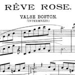 Challe, Rêve rose, valse pour piano, 1905