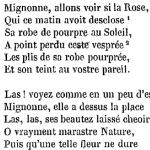 """Pierre de Ronsard, """"À Cassandre"""", dans Œuvres choisies, 1841"""