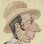 Lhéritier, Le chapeau de paille d'Italie : portrait de Grassot, 1851