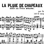 James Carter, La pluie de chapeaux, partition pour piano, 1876
