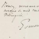 Lettre d'Edmond de Goncourt à Charles Nuitter, juin 1876