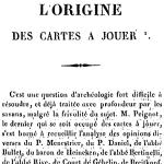 Paul Lacroix, L'Origine des cartes à jouer, 1835