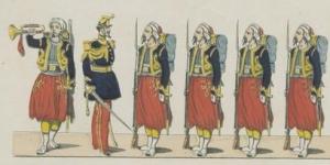 Nouvelle Garde Impériale, régiment de zouaves, imagerie Pellerin, 1857