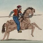 Cosaque monté sur un cheval formé de figures humaines, collection Hennin