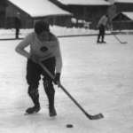 Match de hockey à Chamonix, 1913