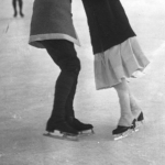 Couple de patineurs à Chamonix, 1913