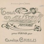 Caroline Chelu, Tout en glissant, partition pour piano, 1903