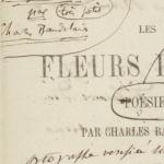 Les Fleurs du mal, épreuves d'imprimerie, 1857