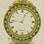 Pendule à découper, 1863
