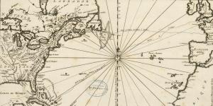 Carte retraçant le voyage de Charlevoix au Canada, 1744