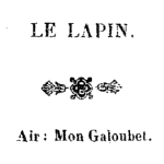 Chansons, 1843
