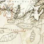 Carte des côtes méridionales de l'isle de Terre Neuve , 1741