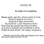 Fable La carpe et les carpillons, 1869