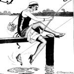 Femme pêchant, Le Journal amusant, 1926
