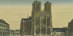 Vue de la Cathédrale de Reims, 1830