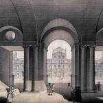 Norry, Colonnes du vestibule du vieux Louvre, 18e siècle